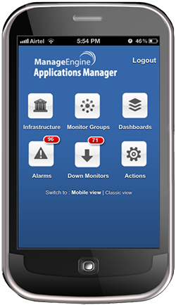 mobile intro New in Applications Manager: Improved java transaction monitoring, iPhone app & more