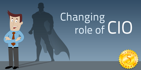 the changing role of cios Technology and digital disruption has compelled cios to match their pace with the rest of the worldhere's how their role is changing.