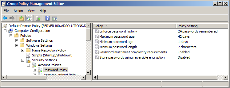 Domain Password Policies Configuring And Auditing