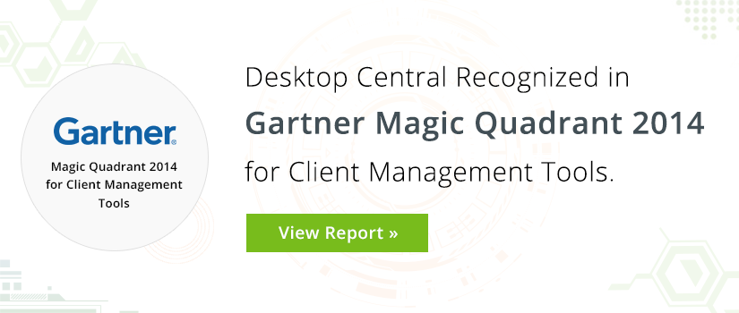 Desktop Central Makes the Magic Quadrant