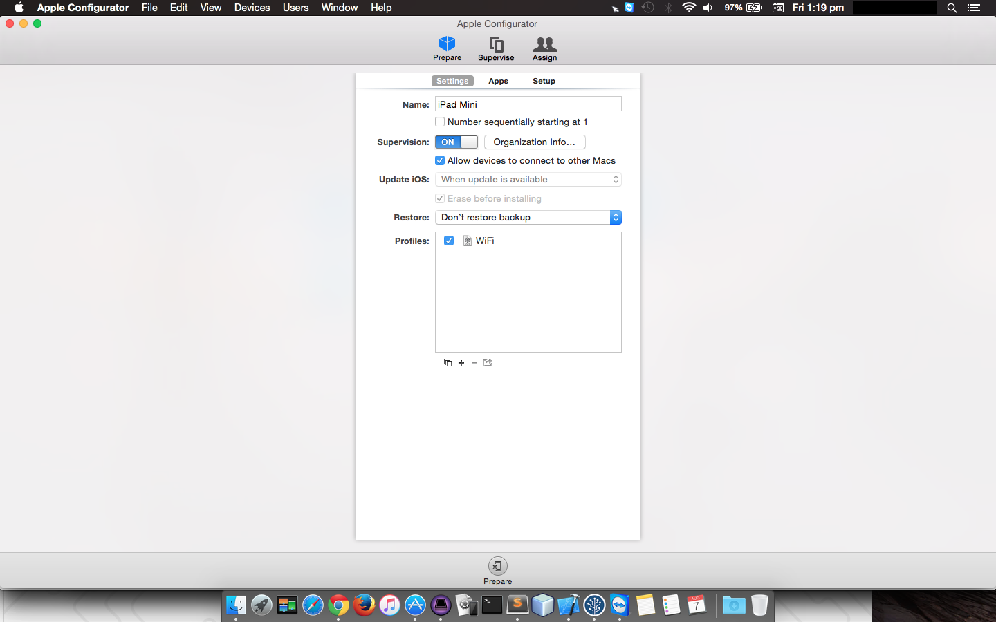 More control with Apple Configurator