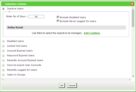 Automatically disable unused user accounts, except service accounts