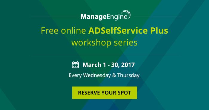 ADSelfService Plus free online workshop series