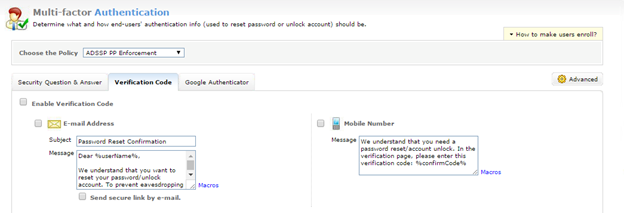 "User ""self-service password reset"" includes multi-factor authentication"