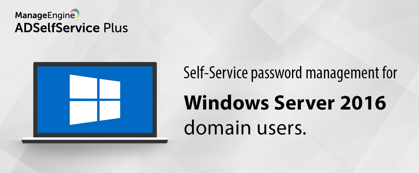 Self Service Password Management Windows Server 2016