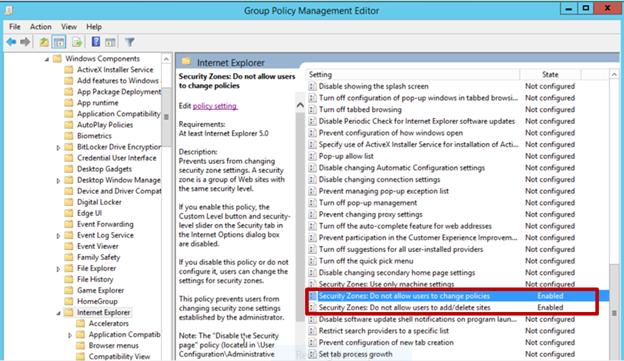 Securing zone levels in Internet Explorer - ManageEngine Blog