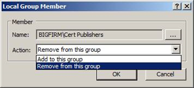 Minimizing membership in the local Administrators group on