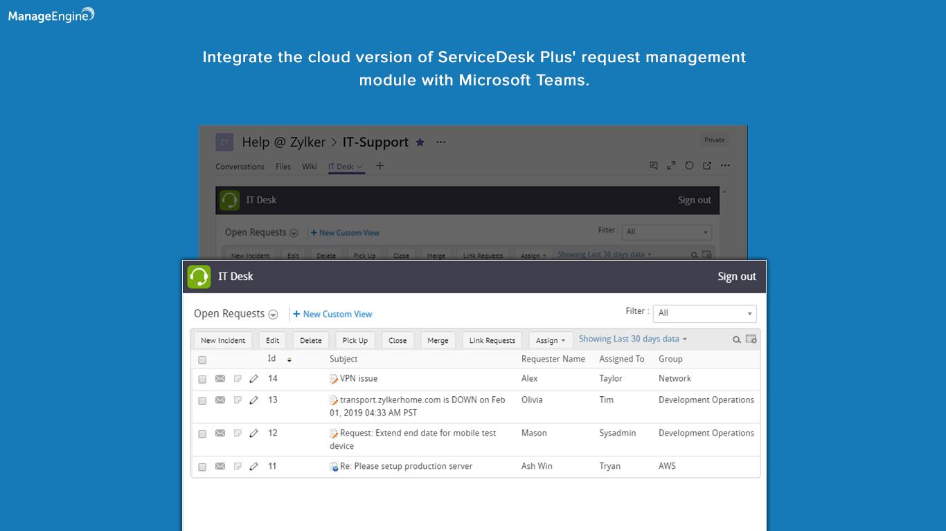 Introducing ServiceDesk Plus Cloud for Microsoft Teams
