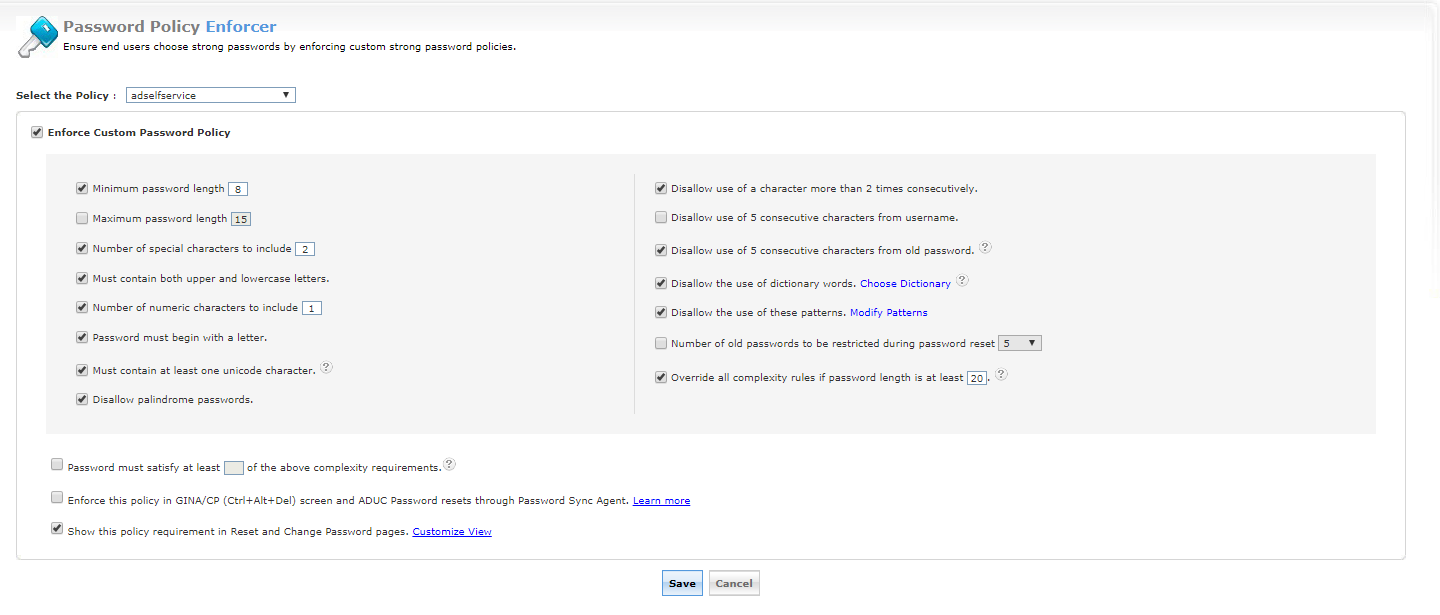 Password Policy Enhancer for Active Directory and Cloud Applications
