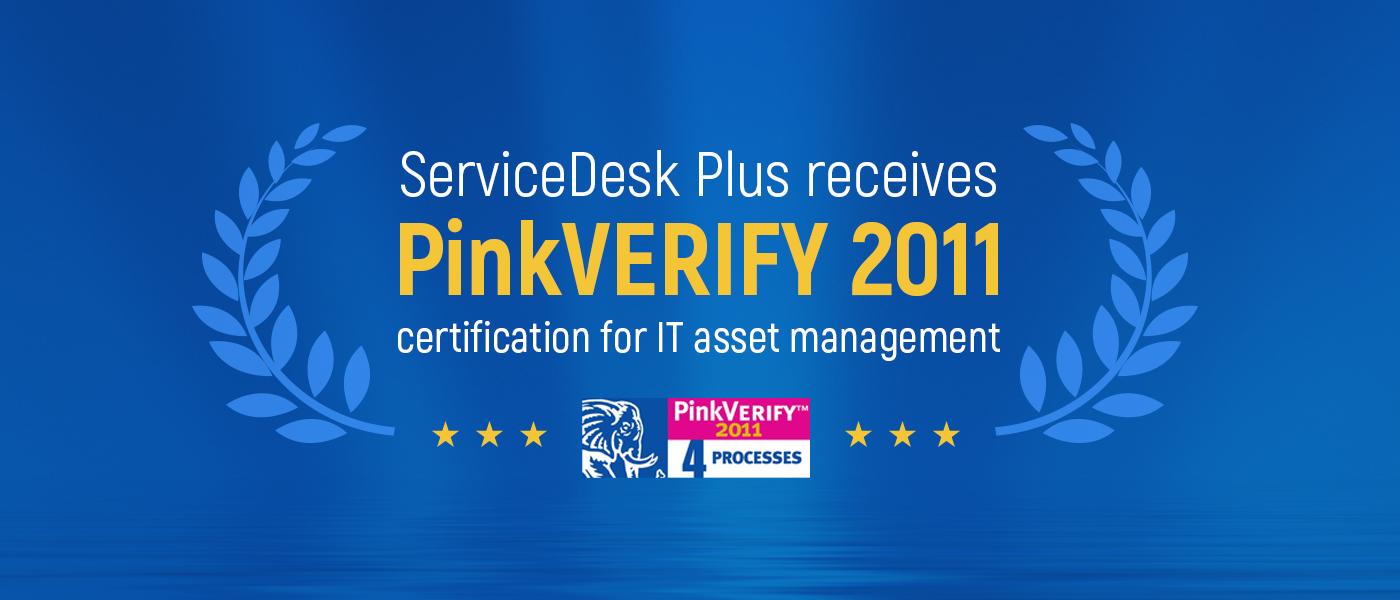PinkVERIFY ITSM tool