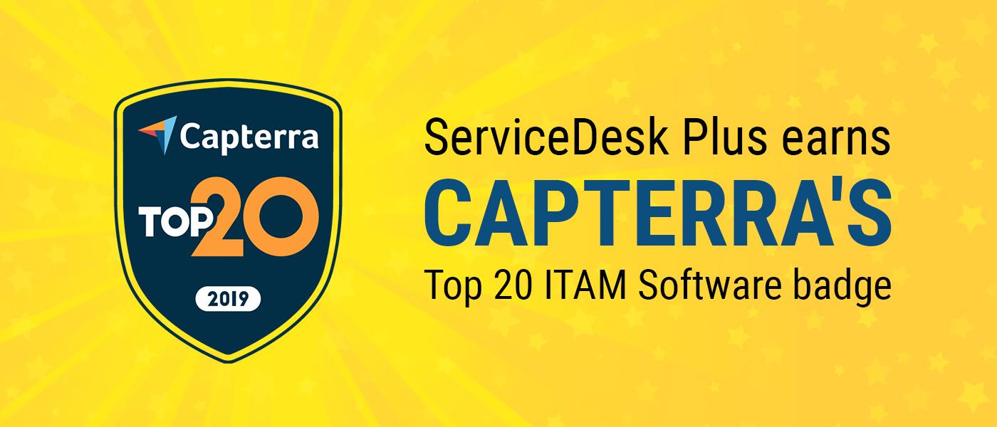 ServiceDesk Plus named in Capterra's 20 most popular IT