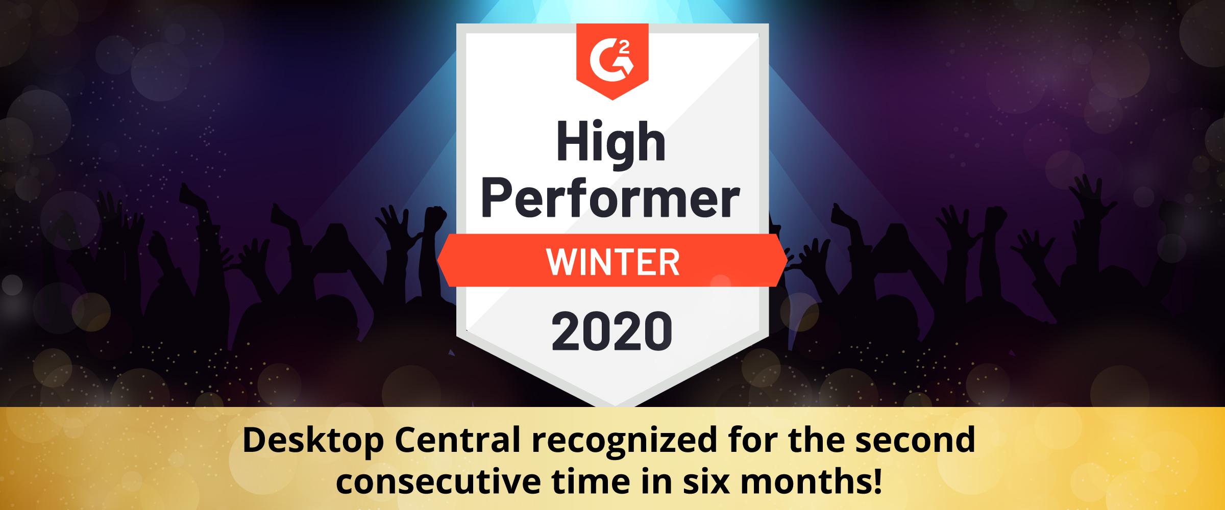Desktop Central recognized for the second consecutive timein six months!