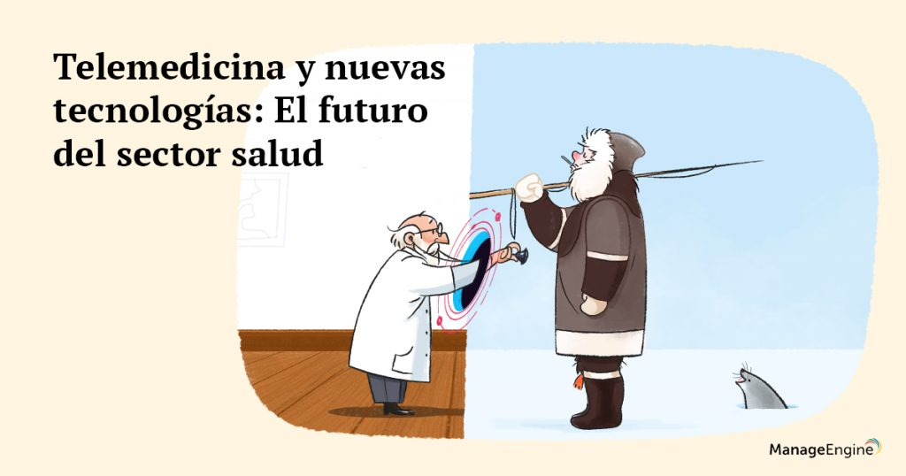 Ilustración telemedicina y futuro del sector salud.