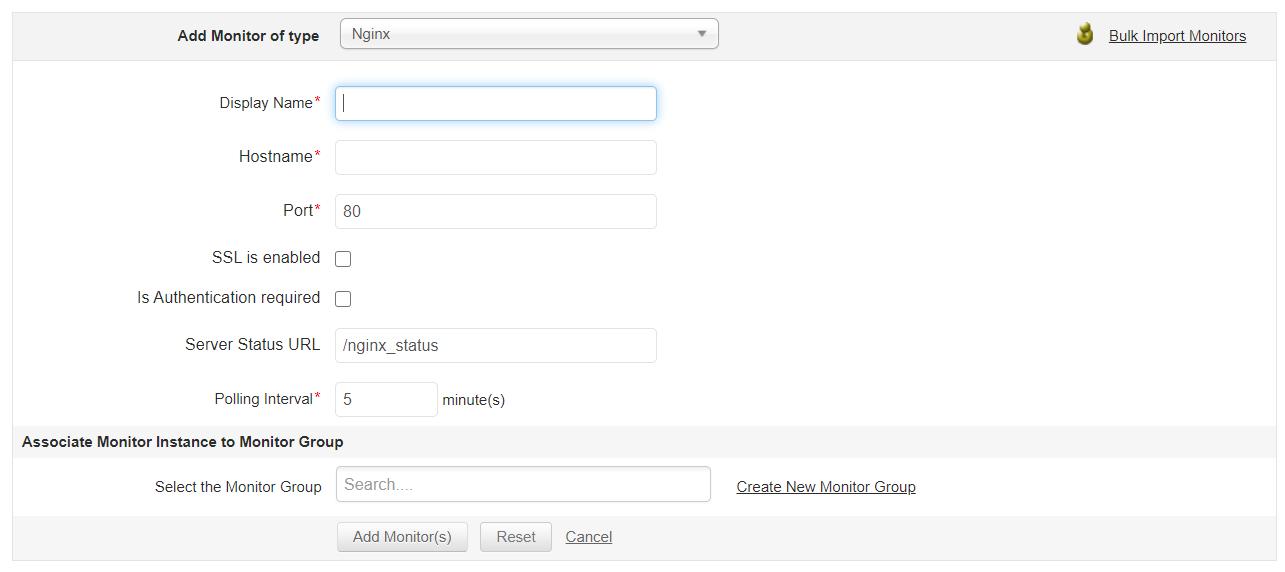 Nginx Monitoring - ManageEngine Applications Manager