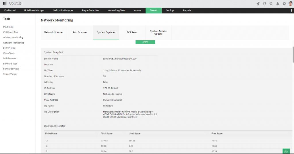 Network Utility Tool - ManagEngine OpUtils