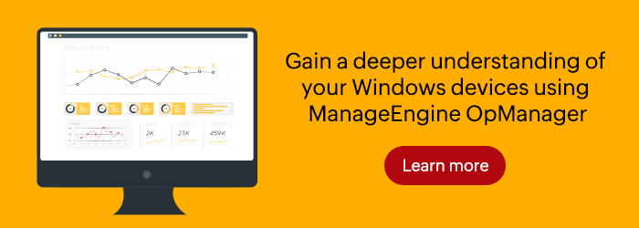 Windows Network Monitoring - ManageEngine OpManager