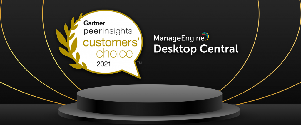 Gartner Customer choice | Desktop Central