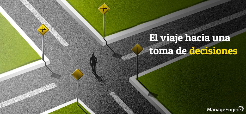 Ilustración sobre toma de decisiones, customer journey