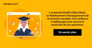 L'Université Khalifa d'Abu Dhabi offre un enseignement technique de haute qualité avec un peu d'aide d'OpManager